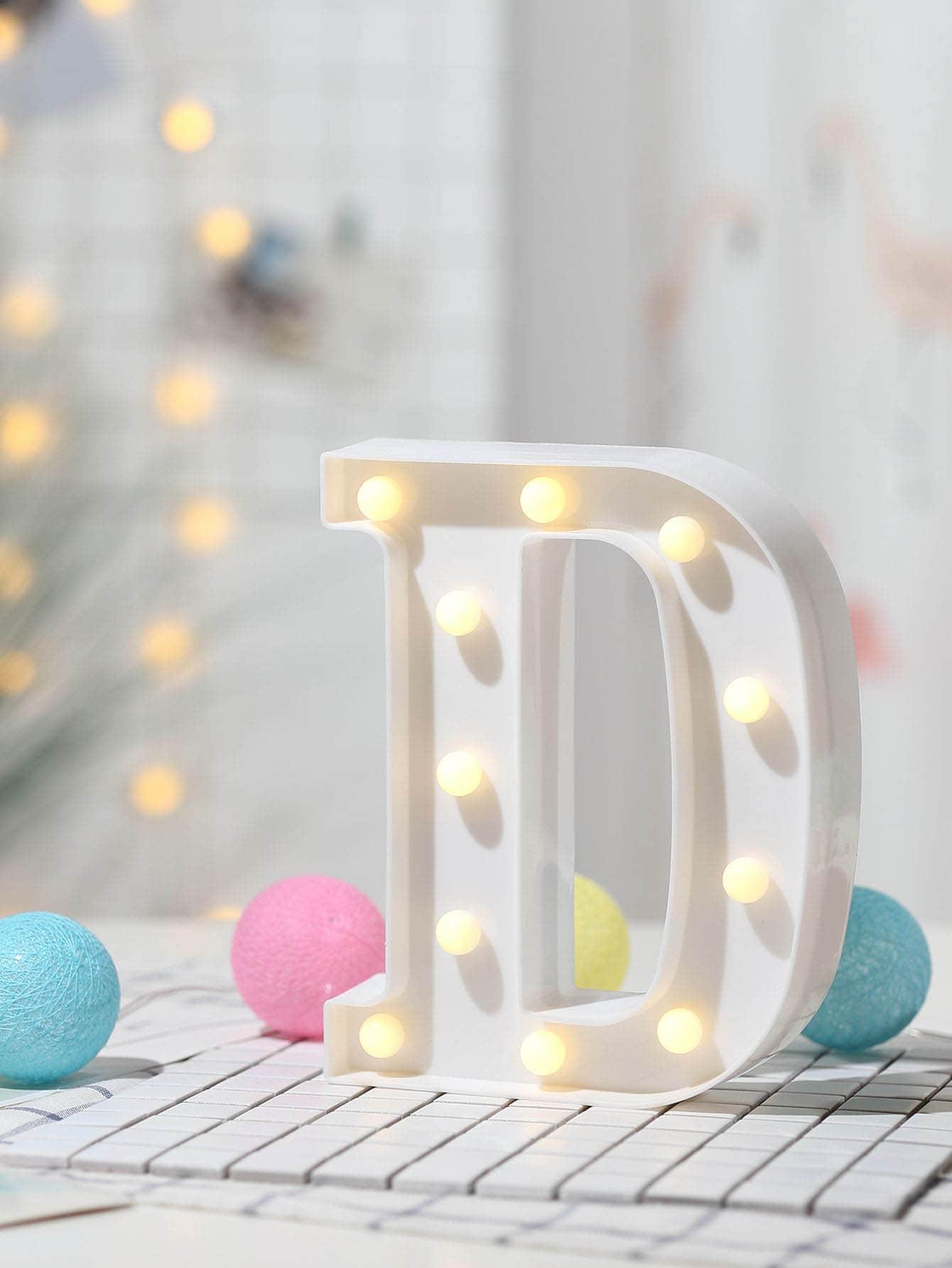 11pcs Bulb D Shaped Table Lamp