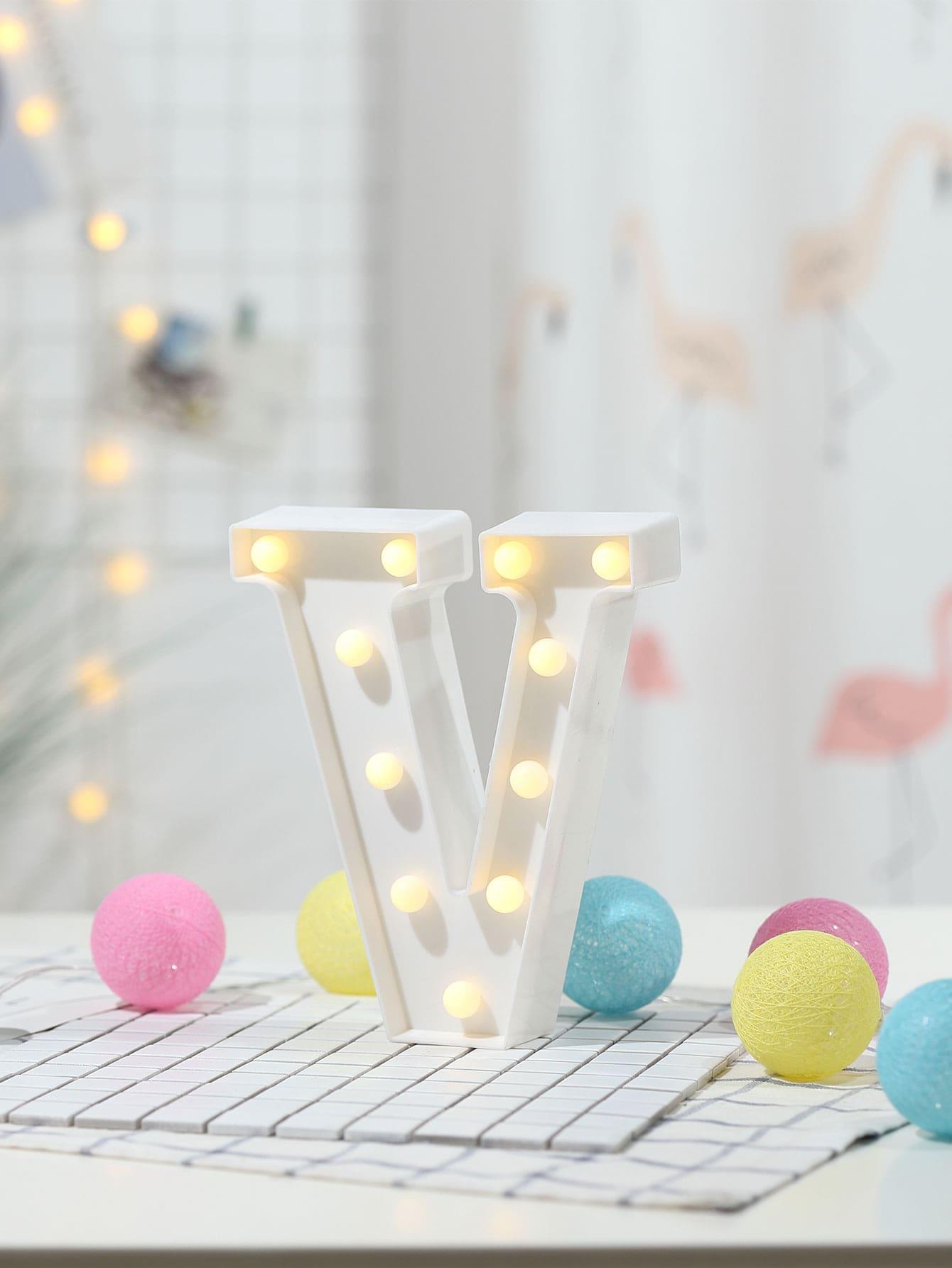 11pcs Bulb V Shaped Table Lamp