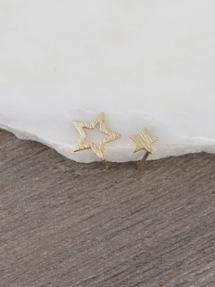Gold Dainty Star Earrings