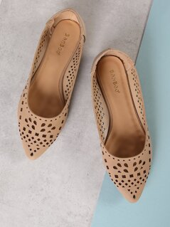 Perforated Pointy Toe Flat