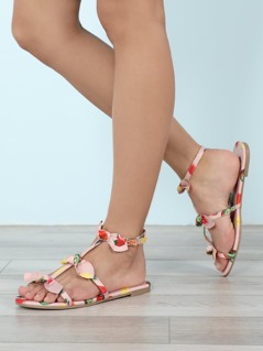 Bow Detailed Strappy Sandals