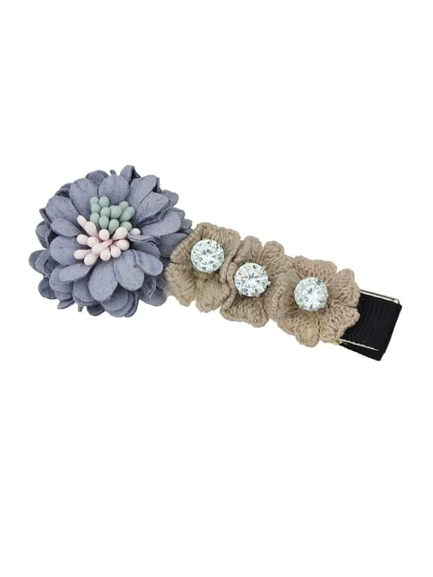Gray New Design Lace Flower Shape Hair Clips Accessories