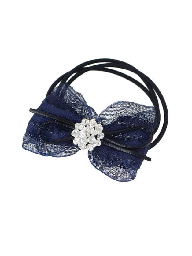Blue Colorful Lace Bowknot Decoration Headbands