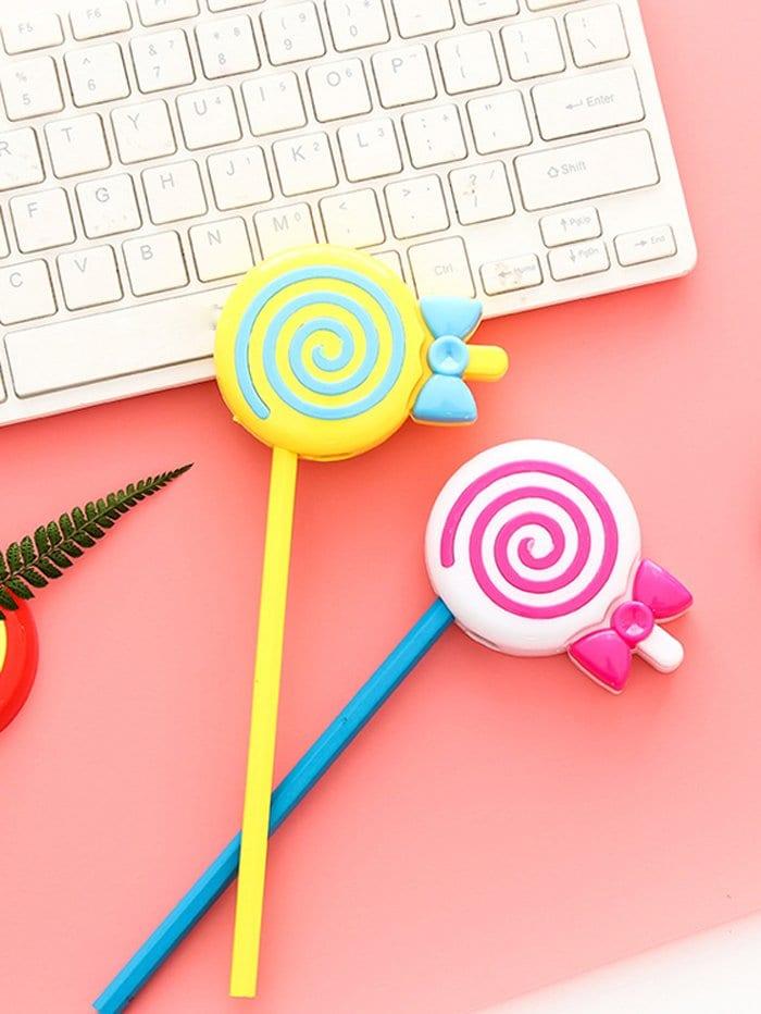 Купить Случайный цветной один точилка для карандашей по форме мороженых, null, SheIn