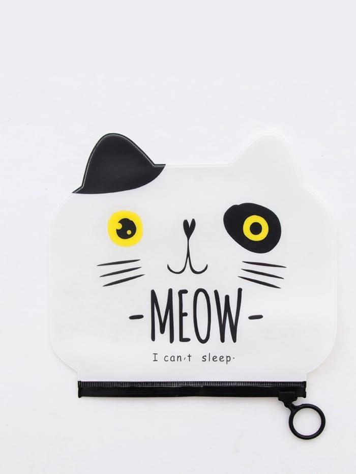 Купить Пенал для карандашей с рисунком лица кошки, null, SheIn