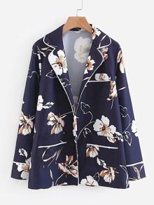 Contrast Binding Florals Shirt
