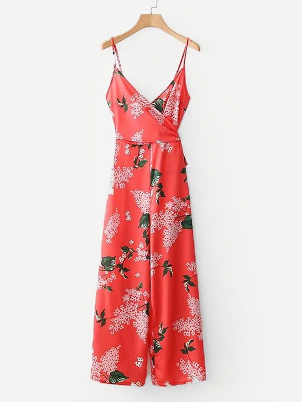 купить Random Florals Wrap Cami Jumpsuit по цене 1565.03 рублей