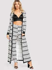 Geometric Longline Coat & Pants