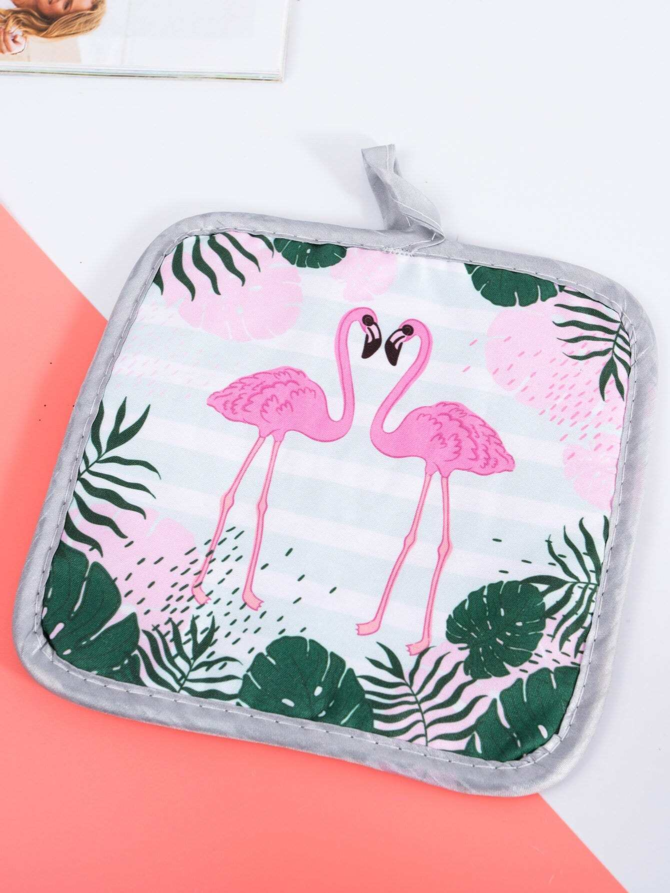 Flamingo & Tropical Print Table Mat