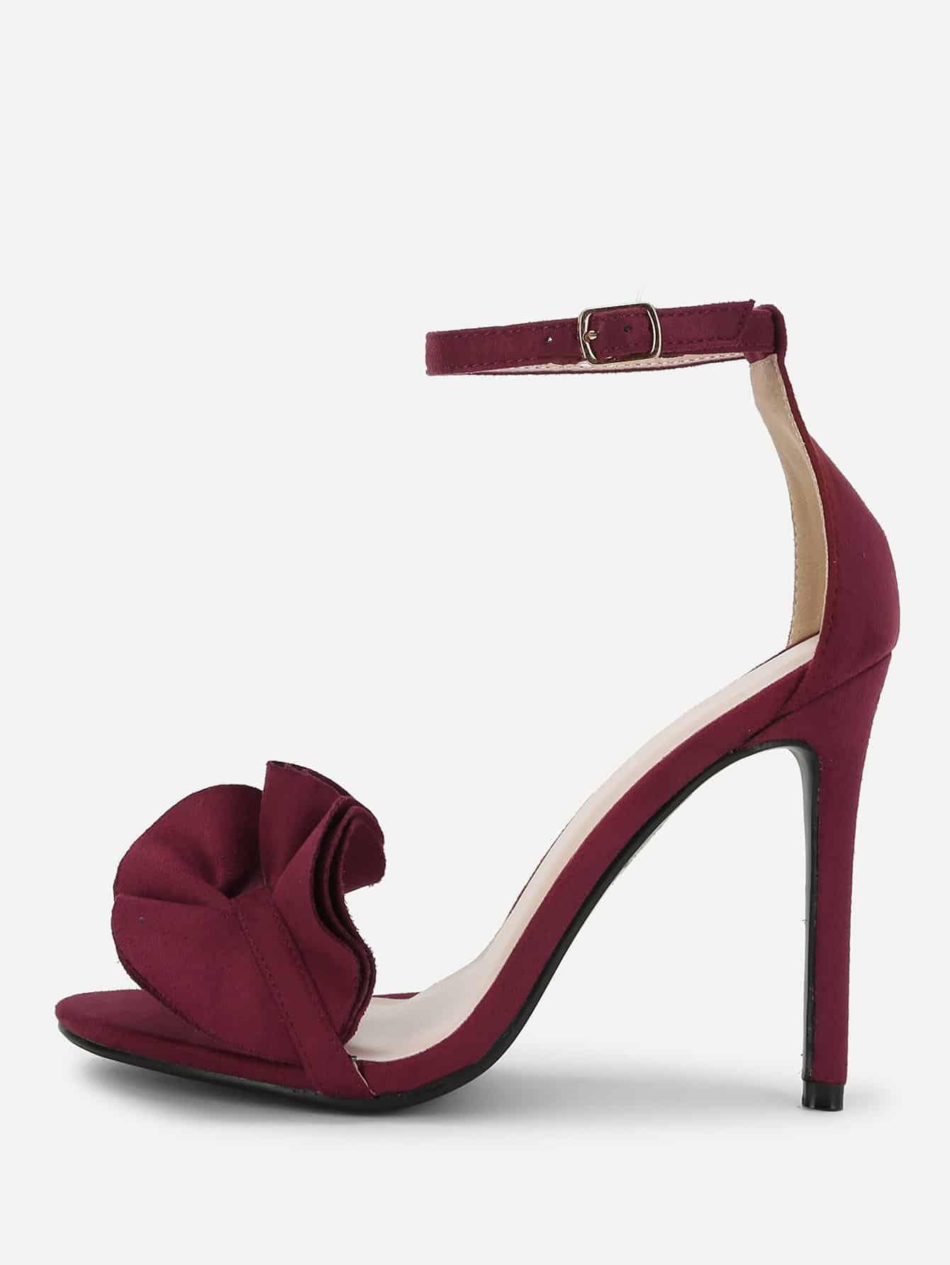 Купить Модные туфли на каблуках с оборкой, null, SheIn