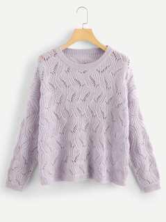 Loose Knit Eyelet Sweater