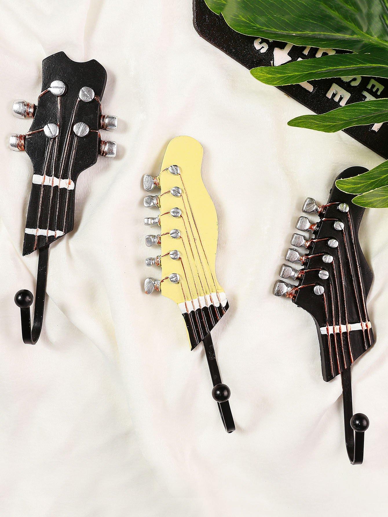 Купить Настенная вешалка по форме гитары 3шт., null, SheIn