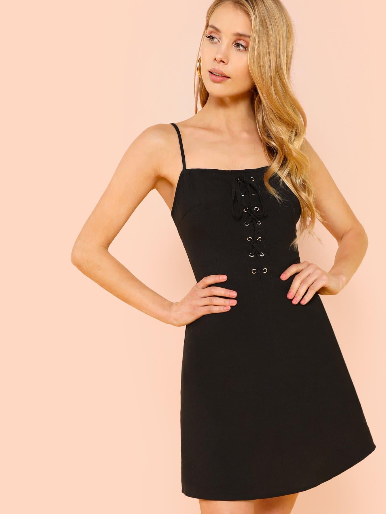 Купить Платье с мини-платьем для петли, Allie Leggett, SheIn