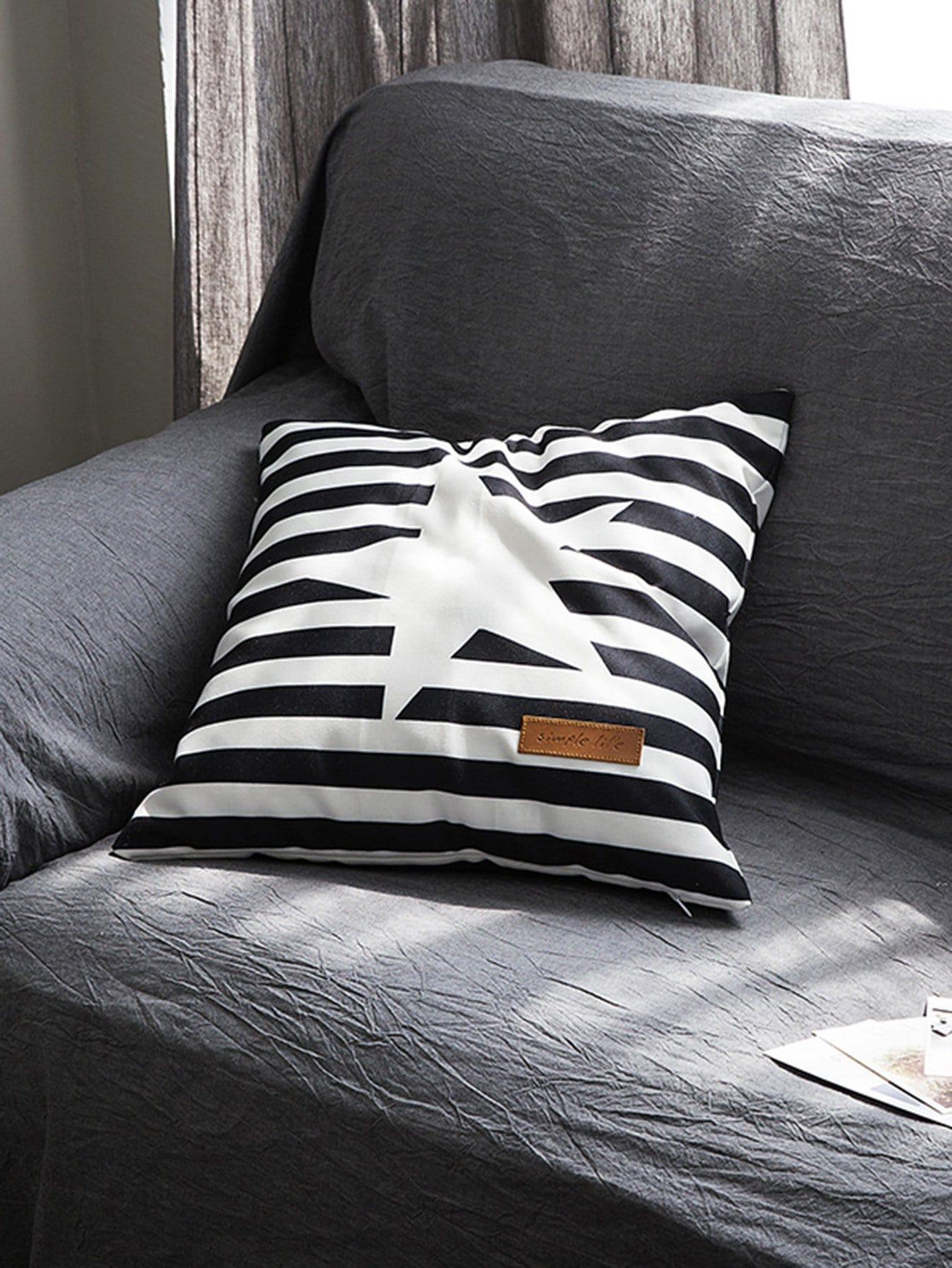 Striped & Star Print Pillowcase Cover 1PC