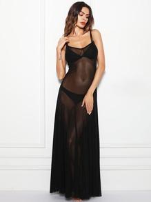 Mesh Sheer Cami Dress