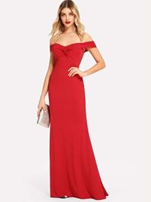 Off Shoulder Twist Front Dress