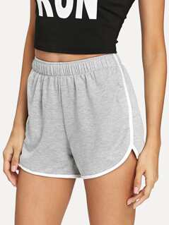 Heather Grey Dolphin Shorts