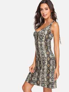 Snake Print Shell Dress