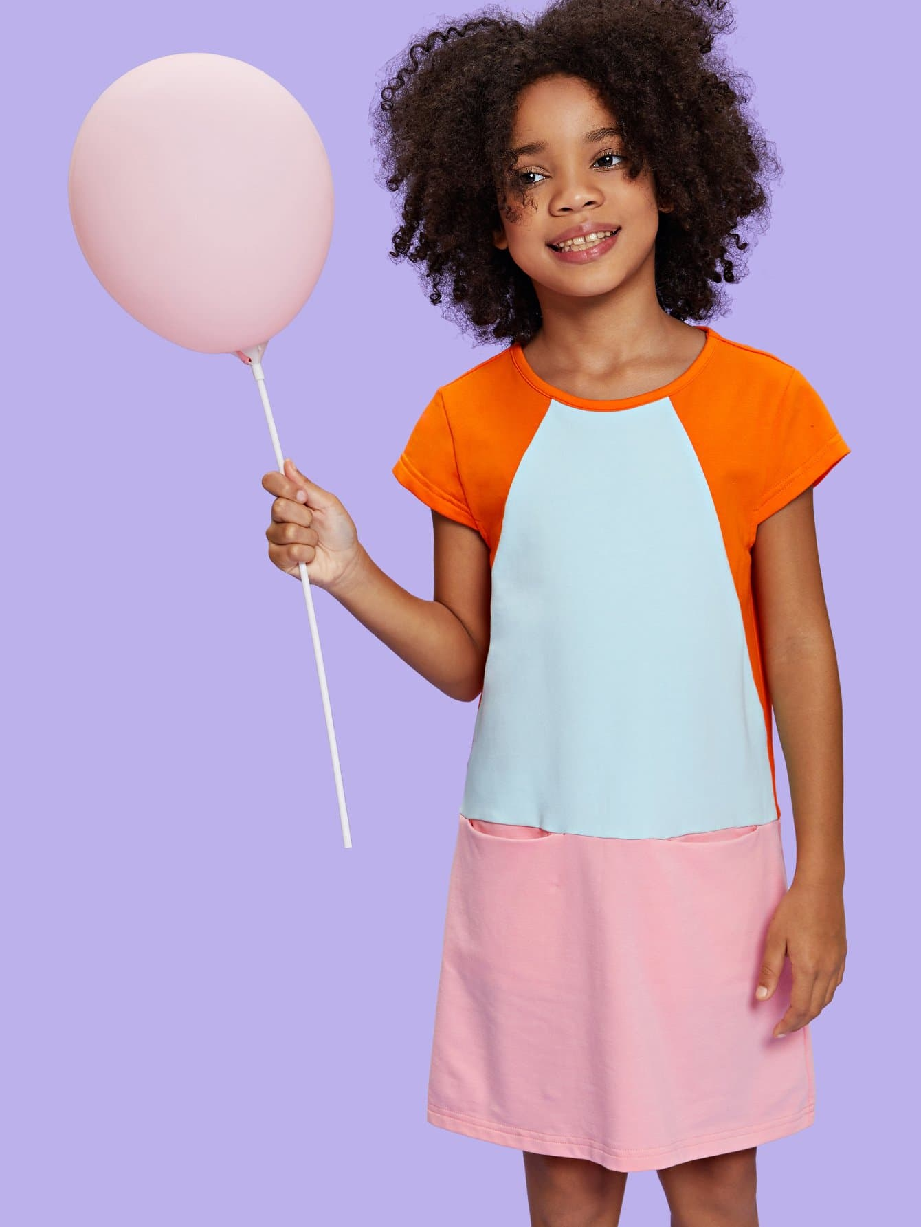 Girls Cut and Sew Pocket Front Dress girls cut and sew top