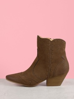 Oil Finish Suede Cowgirl Boot