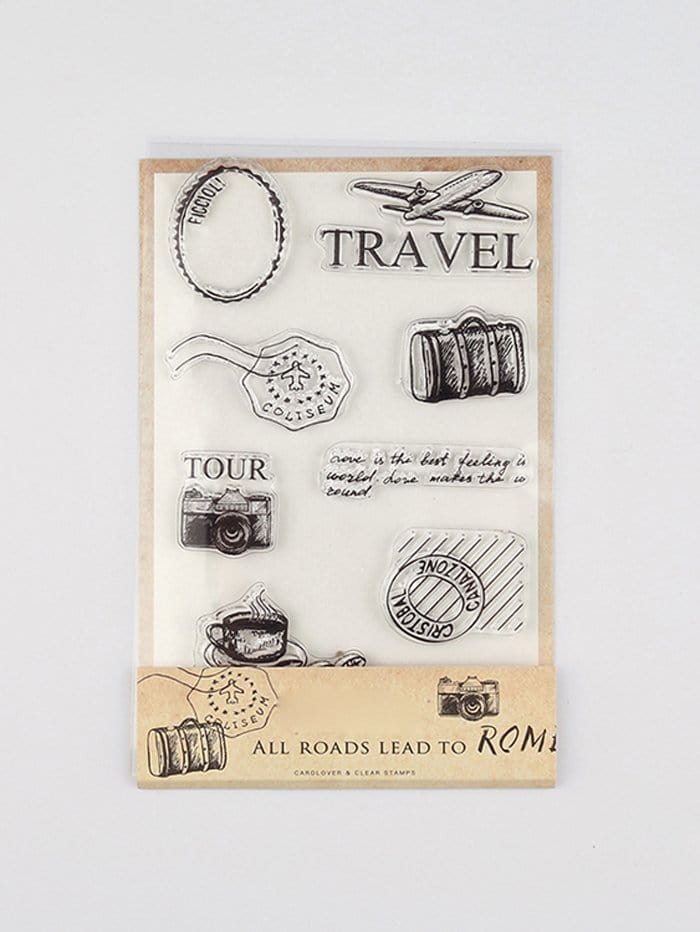 Clear Silica Gel Stamp Set 2pcs set embossing folders clear stamps card making acrylic vintage for photo scrapbooking stamp clear stamps for scrapbooking