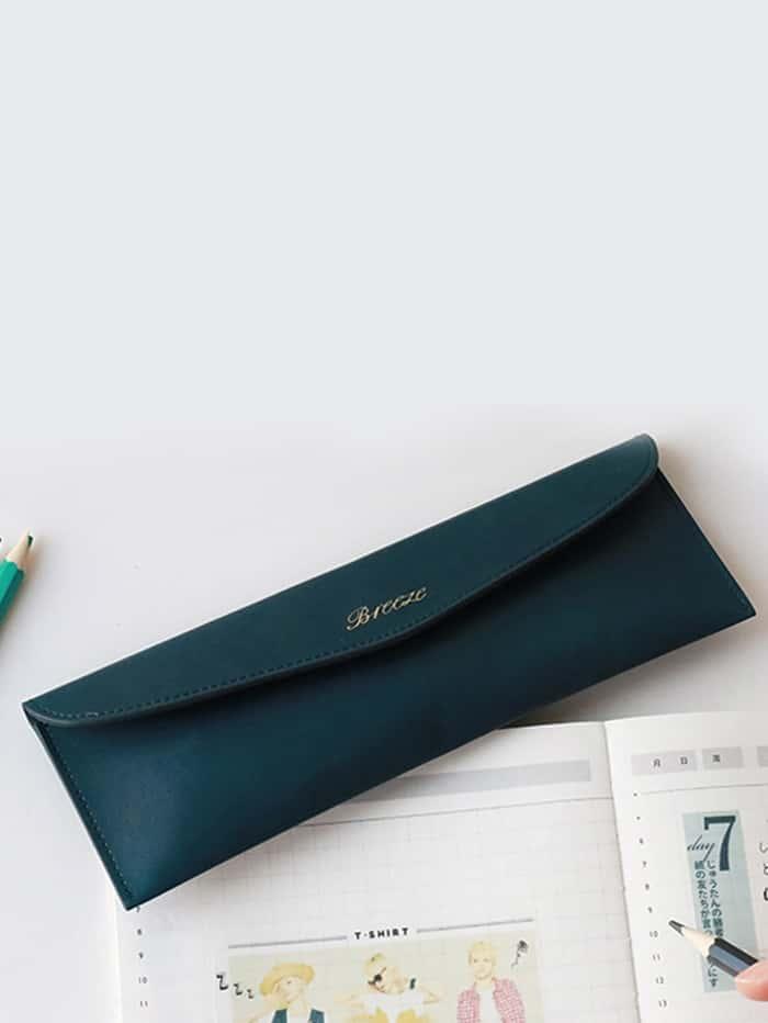 Slim Envelope PU Pencil Case slim pu pencil case