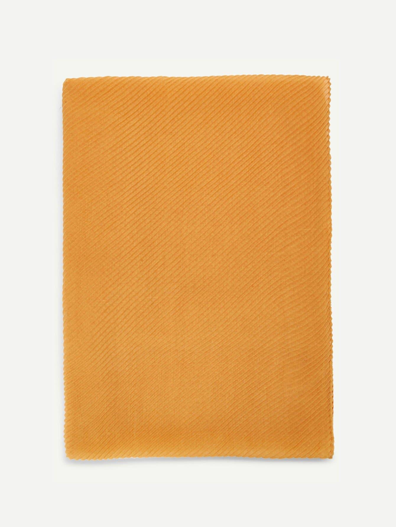 Купить Плиссированный гладкий шарф, null, SheIn