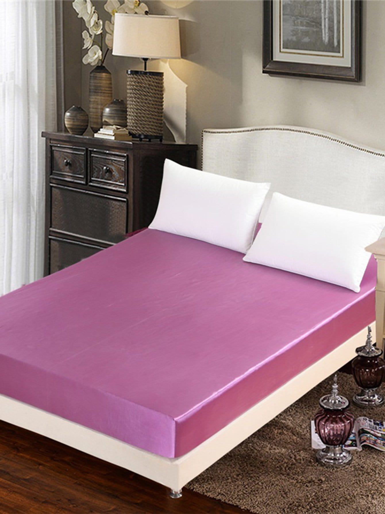 Solid Fitted Sheet Set solid color fitted sheet