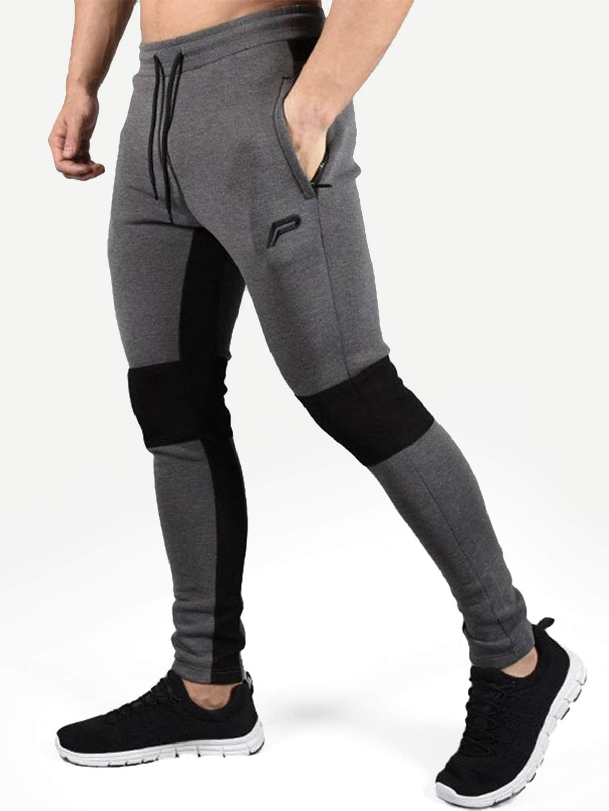 男人 刺鏽 裝飾 色塊 褲