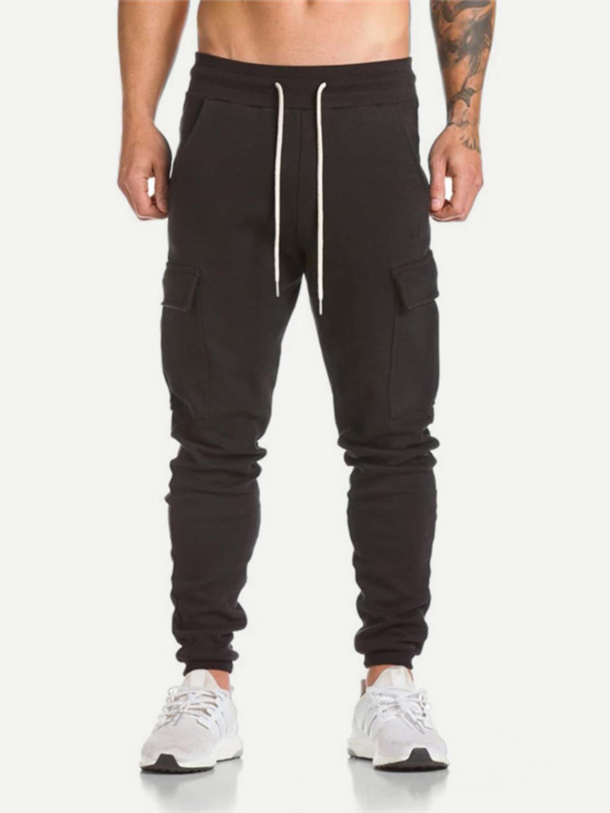 男人 口袋 裝飾 腰繫帶 褲