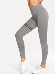 Contrast Stripe Yoga Leggings
