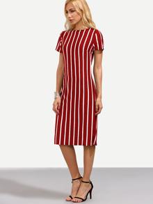 Vertical Striped Skinny Dress