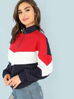 O-Ring Zip Front Cut and Sew Sweatshirt