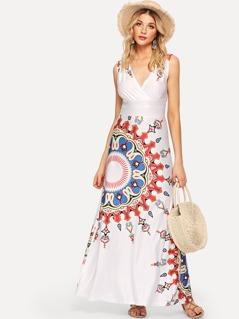 Geometric Print Tribal Shell Dress