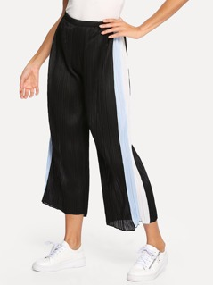 Color Block Pleated Pants