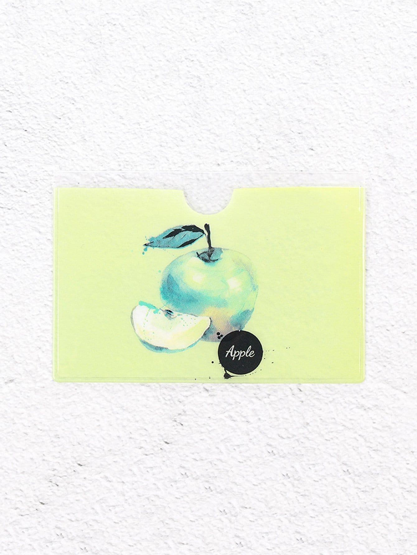 Kartenhülle mit Apfelmuster