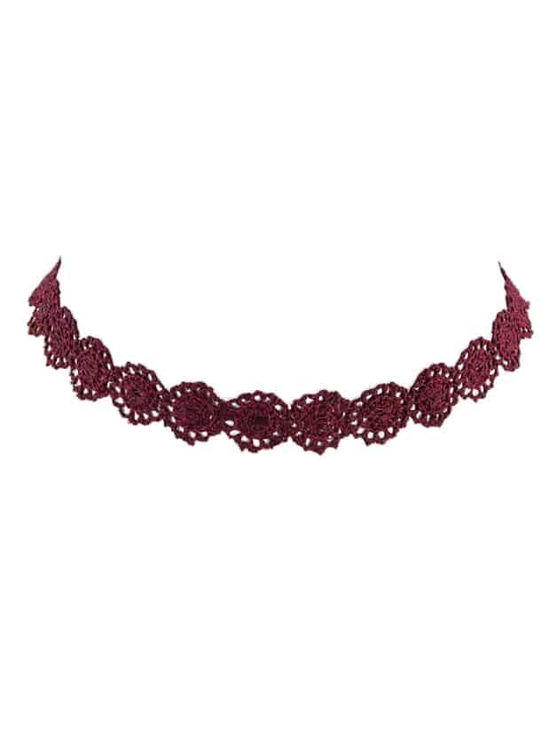 Lace Flower Choker Necklaces