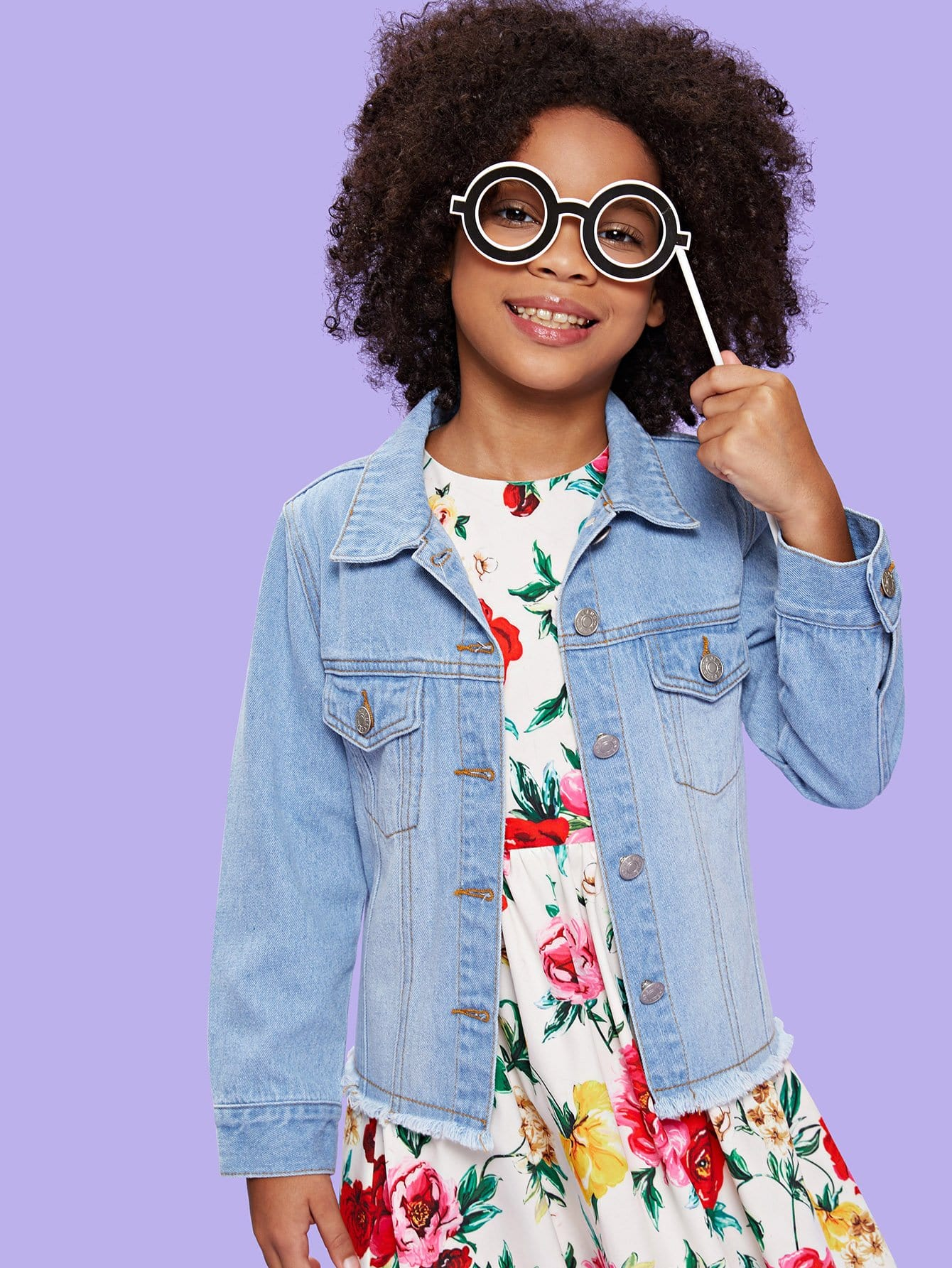 Girls Light Wash Frayed Denim Jacket nematodes of vegetable crops their control using plant extracts
