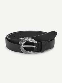 Feather Metal Buckle Belt