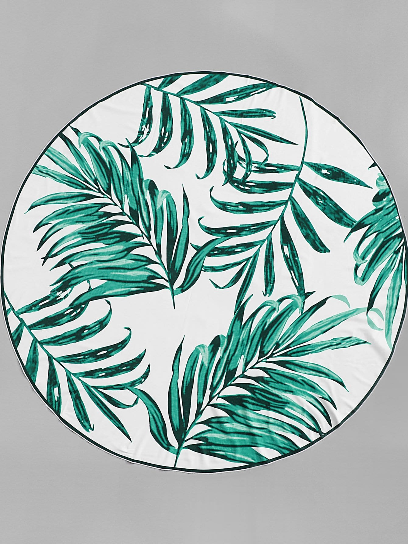 Tropical Print Round Beach Blanket