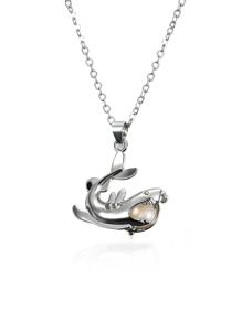 Shark Design Pendant Openable Necklace