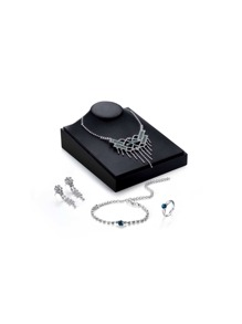 Statement Necklace & Earrings & Bracelet & Ring