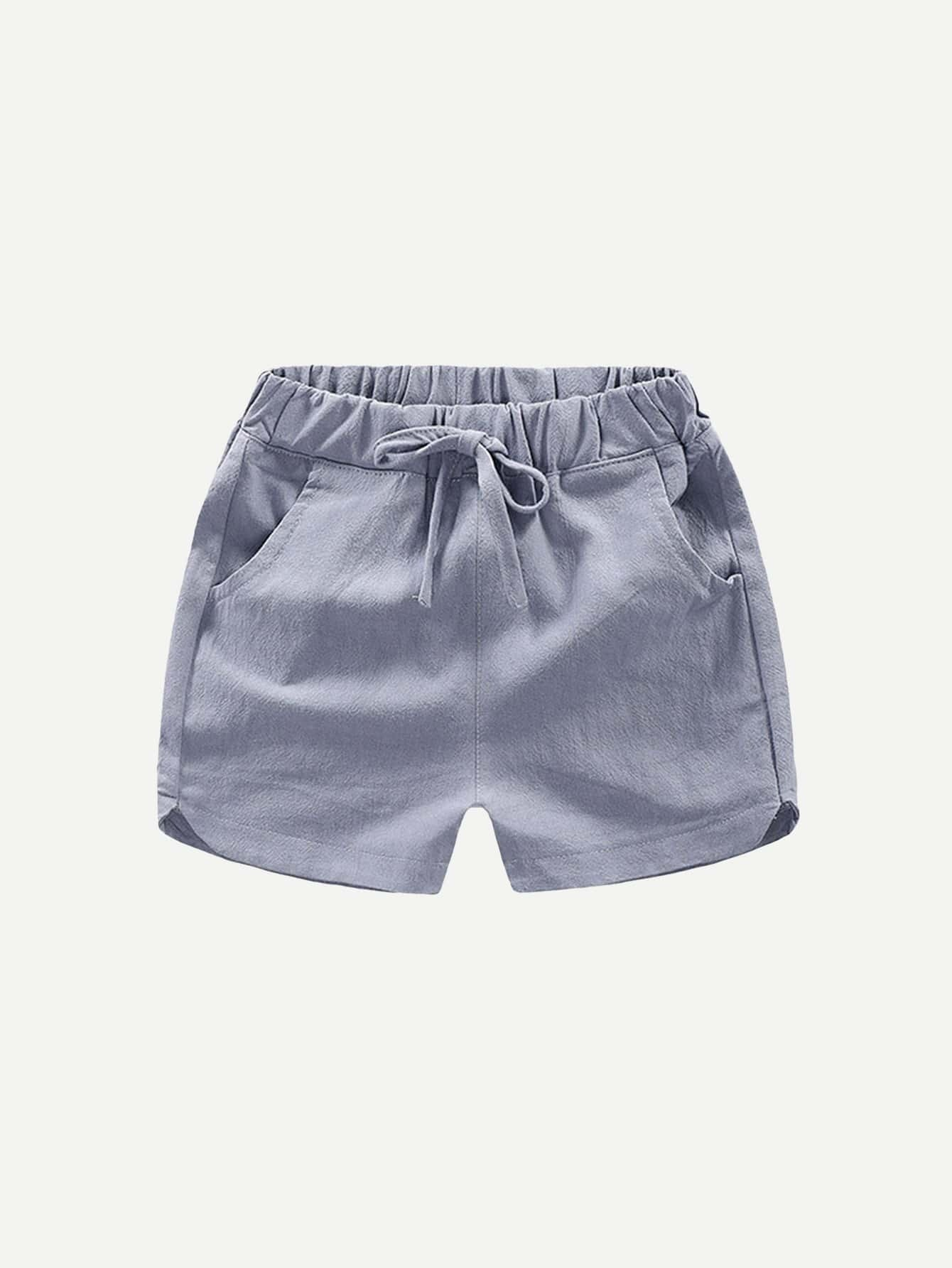 все цены на Boys Drawstring Waist Solid Shorts