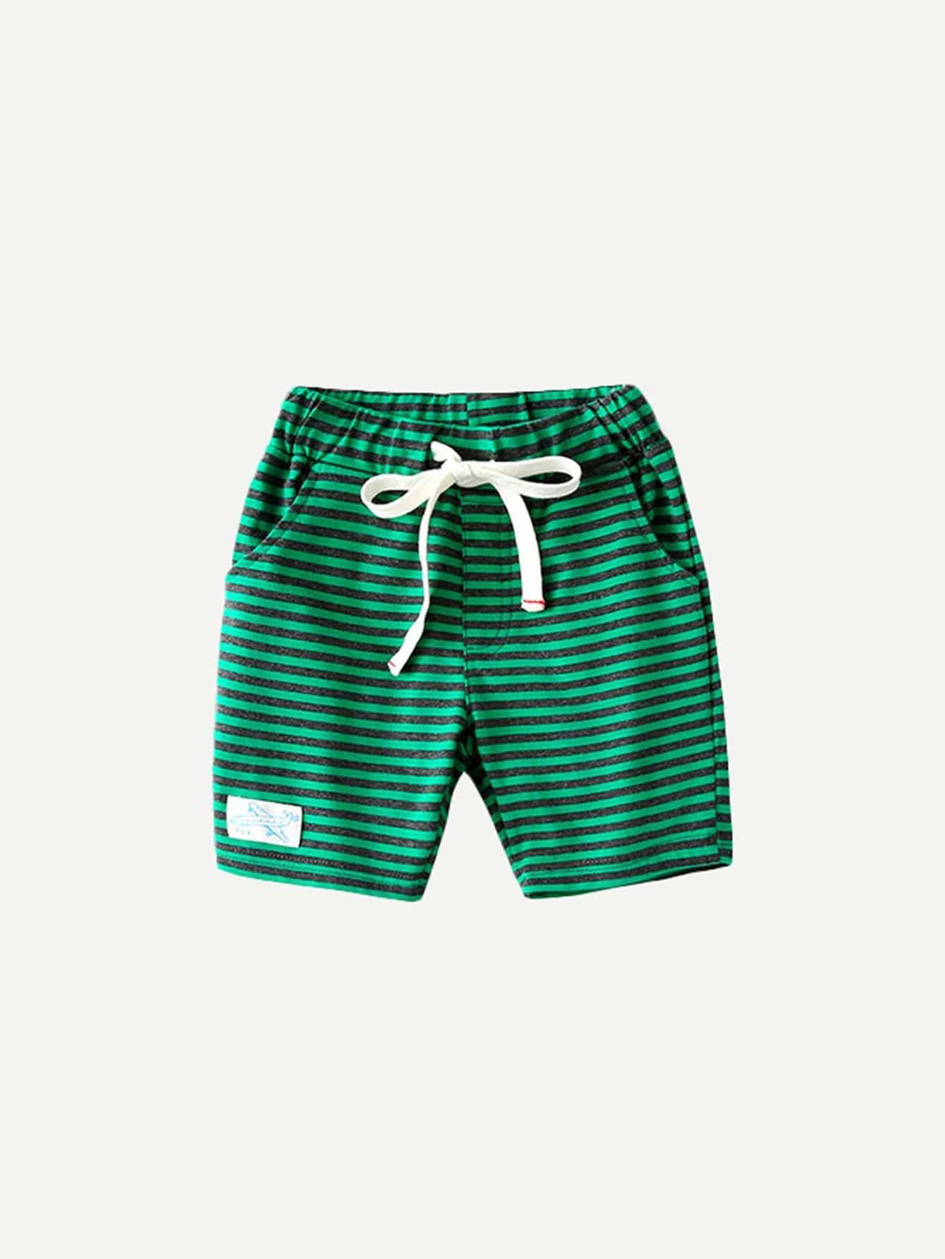 все цены на Boys Striped Drawstring Waist Shorts
