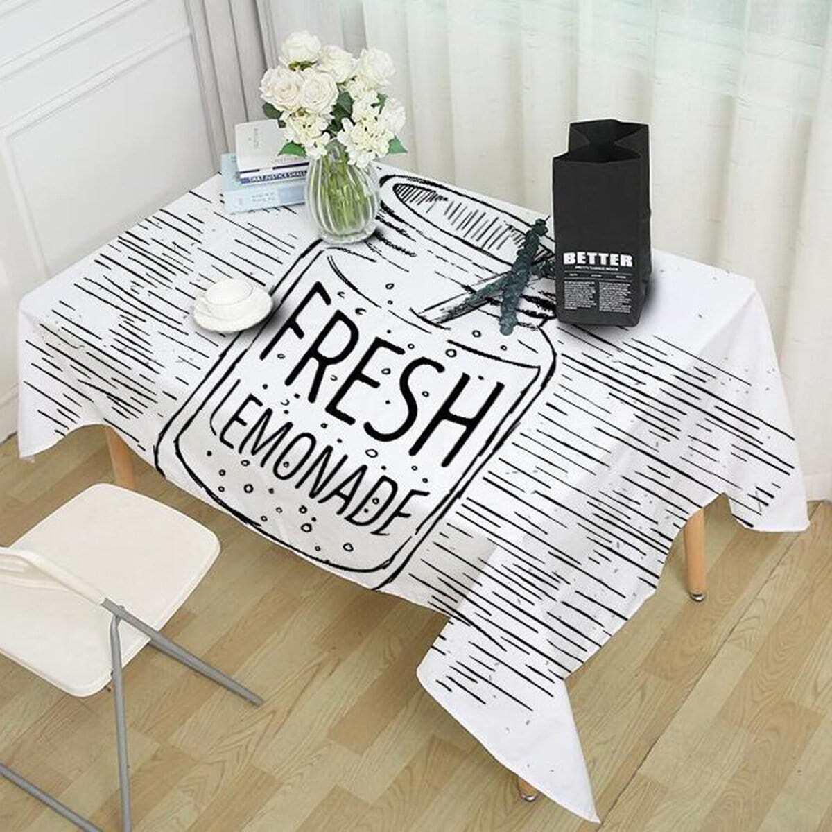 Drink Print Table Cloth