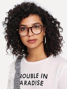 Leopard Frame Retro Glasses