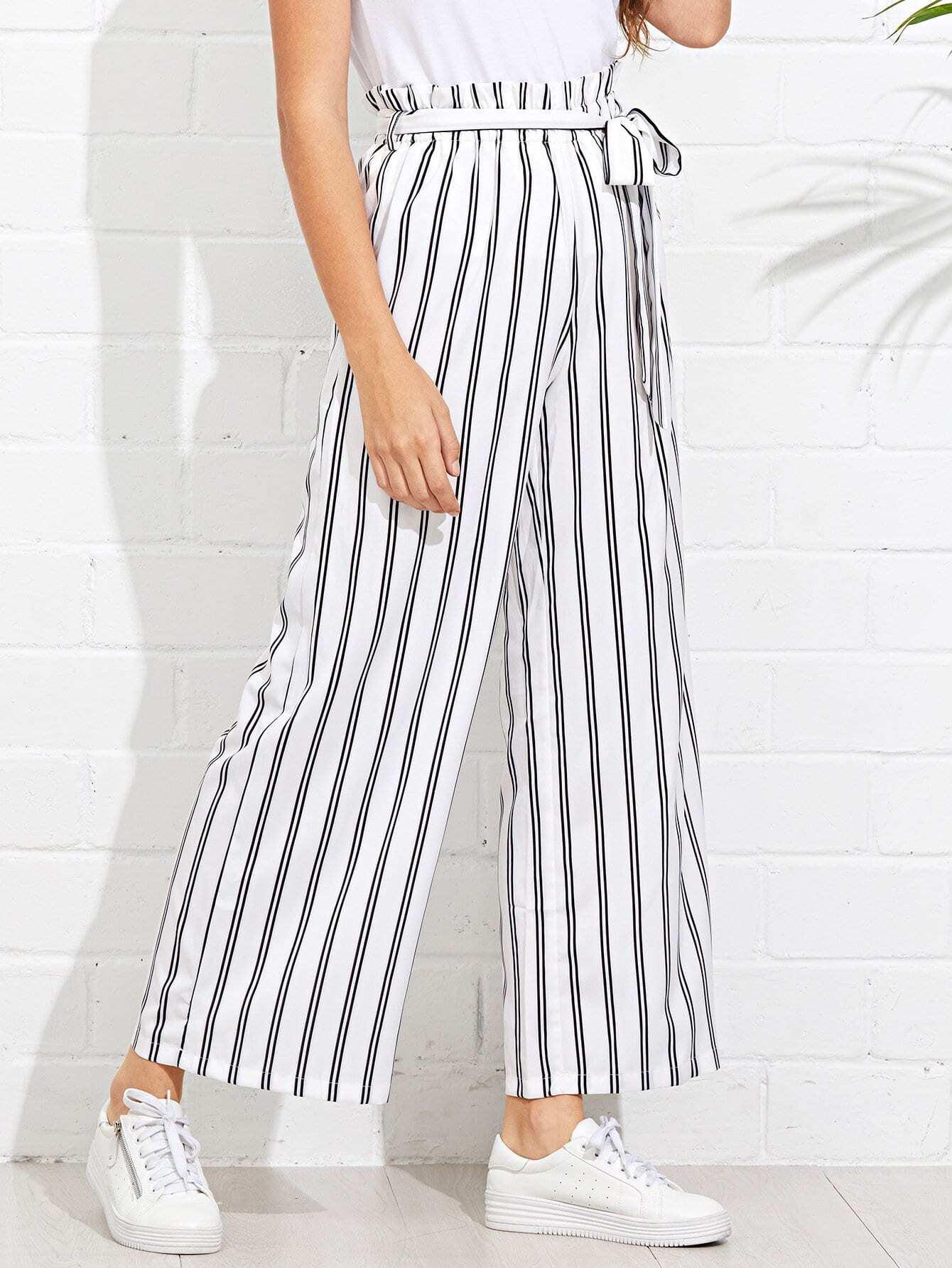 Купить Самоустанавливающиеся брюки с широкими ногами, Luiza, SheIn