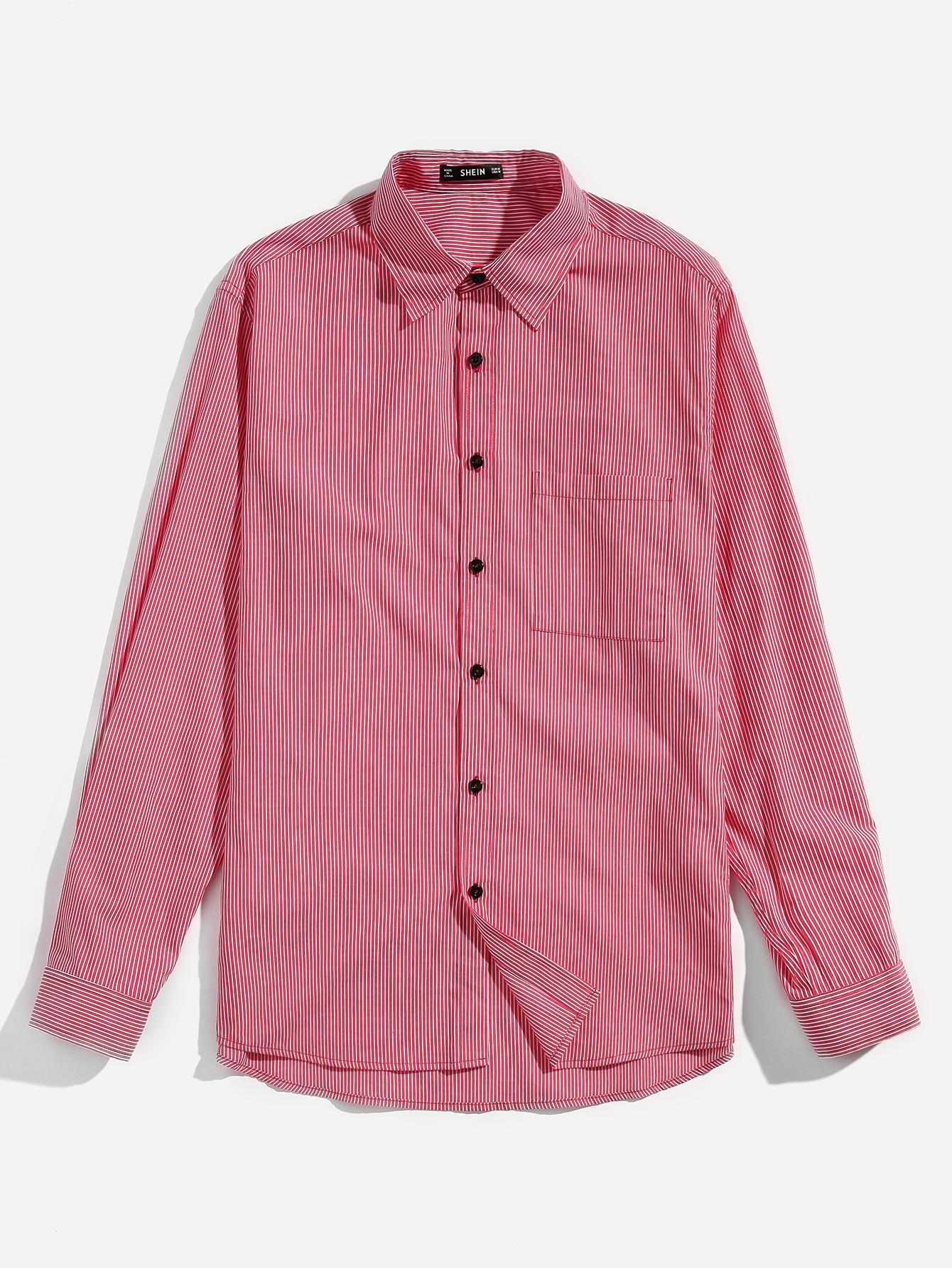 Купить Мужская футболка с манжетами, null, SheIn