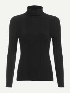 High Neck Slim Fitted Sweater
