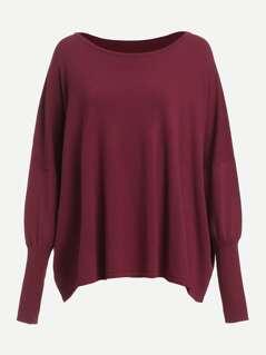 Gigot Sleeve Oversized Sweater